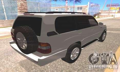 Toyota Land Cruiser 100 для GTA San Andreas вид сзади слева
