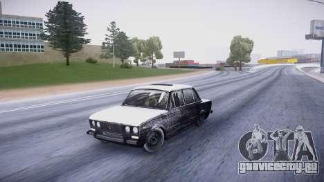 ВАЗ 2106 зимняя версия для GTA San Andreas вид слева