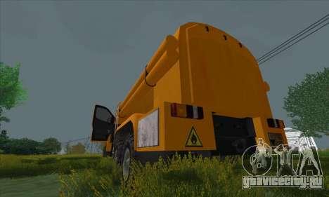 Ural Next Бензовоз для GTA San Andreas вид справа