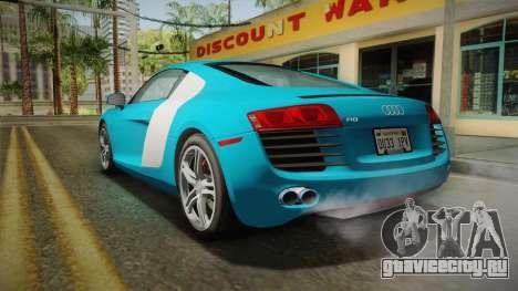 Audi R8 Coupe 4.2 FSI quattro US-Spec v1.0.0 v2 для GTA San Andreas вид слева