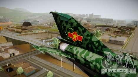 MIG-21 Norvietnamita для GTA San Andreas вид сзади