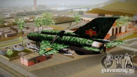 MIG-21 Norvietnamita для GTA San Andreas вид слева