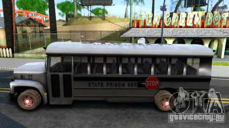 Prison Bus Driver Parallel Lines для GTA San Andreas вид слева