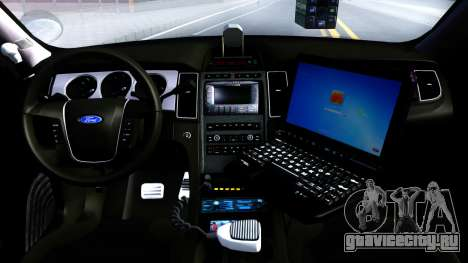Ford Taurus Slicktop Metro Police 2013 для GTA San Andreas вид изнутри