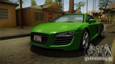 Audi R8 Coupe 4.2 FSI quattro EU-Spec 2008 для GTA San Andreas вид справа