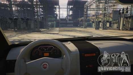 Fiat Palio Way Brasil 2015 для GTA 5 вид справа