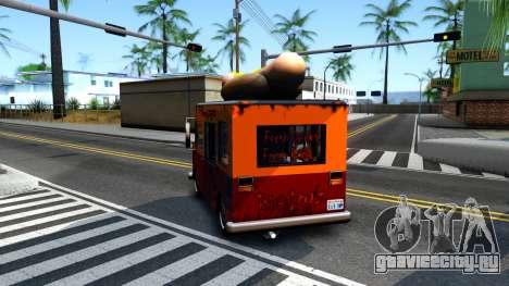 New HotDog Van для GTA San Andreas вид сзади