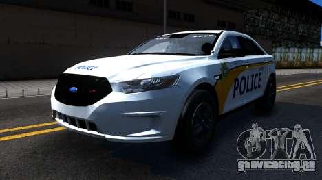 Ford Taurus Slicktop Metro Police 2013 для GTA San Andreas