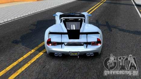 GTA V Vapid FMJ Roadster для GTA San Andreas вид сзади слева