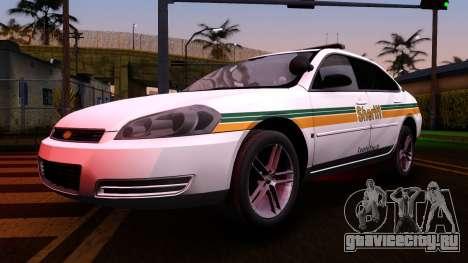 2008 Chevrolet Impala LTZ County Sheriff для GTA San Andreas вид изнутри