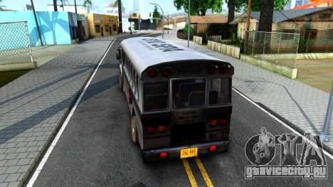 Prison Bus Driver Parallel Lines для GTA San Andreas вид сзади слева