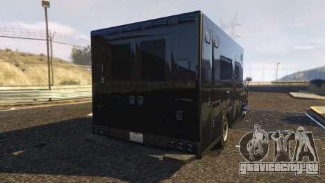 Ambulance SAMU Santa Catarina Brasil для GTA 5 вид сзади слева