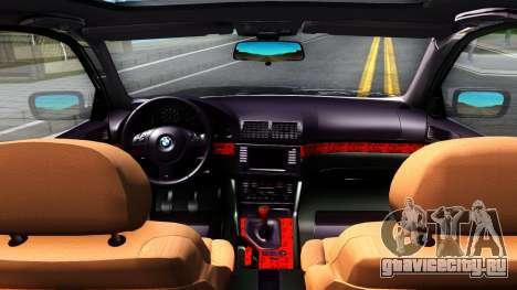 BMW e39 530d для GTA San Andreas вид изнутри