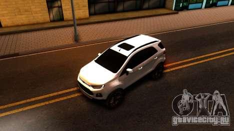 Ford EcoSport 2016 для GTA San Andreas вид сзади