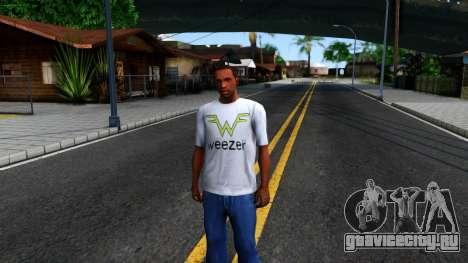 Weezer T-Shirt для GTA San Andreas