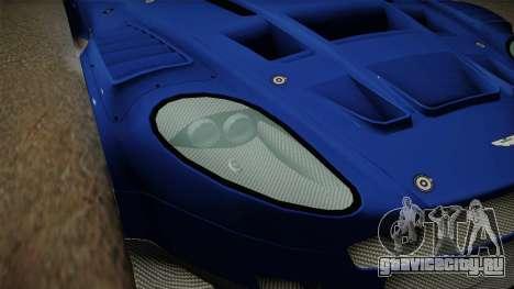 Aston Martin Racing DBR9 2005 v2.0.1 Dirt для GTA San Andreas вид сверху
