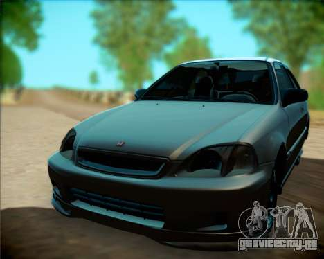 Honda Civic Hatchback для GTA San Andreas вид сзади слева