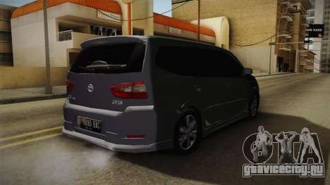 Nissan Grand Livina Highway Star для GTA San Andreas вид сзади слева