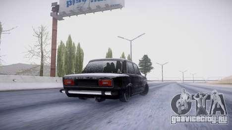 ВАЗ 2106 зимняя версия для GTA San Andreas вид сзади
