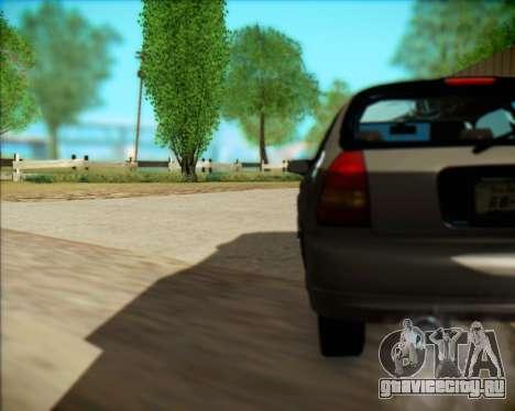 Honda Civic Hatchback для GTA San Andreas вид сзади