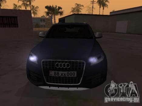 Audi Q7 Armenian для GTA San Andreas вид слева