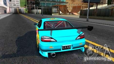 Taneshima Popura NISSAN Silvia S15 Itasha для GTA San Andreas вид сзади слева