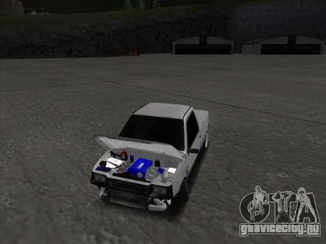 VAZ 1111 Drift для GTA San Andreas вид изнутри