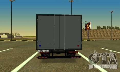 Газель 3302 Бизнес для GTA San Andreas вид сзади слева