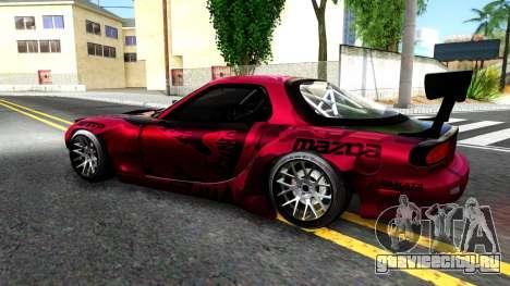 Mazda RX-7 Madbull Rocket Bunny для GTA San Andreas вид слева