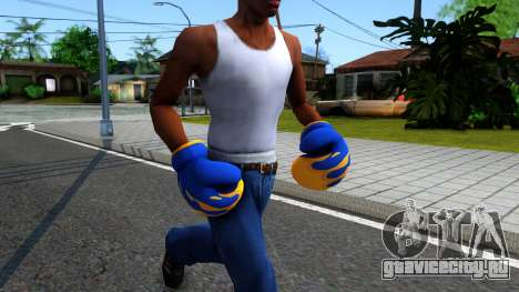 Blue With Flames Boxing Gloves Team Fortress 2 для GTA San Andreas второй скриншот
