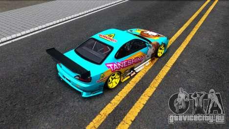 Taneshima Popura NISSAN Silvia S15 Itasha для GTA San Andreas вид сзади
