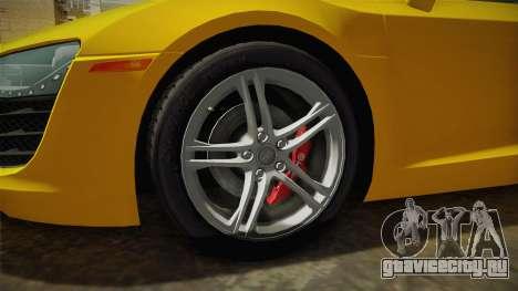 Audi R8 Coupe 4.2 FSI quattro US-Spec v1.0.0 для GTA San Andreas вид сзади