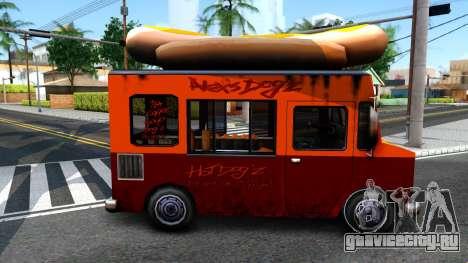 New HotDog Van для GTA San Andreas вид сзади слева