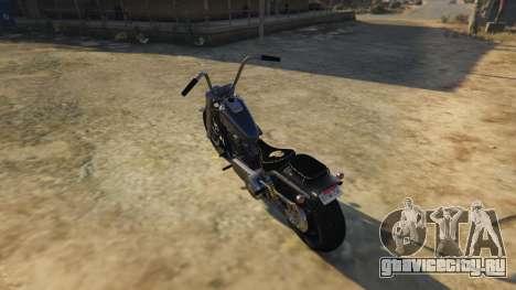 Daemon SOA Harley-Davidson для GTA 5 вид сзади слева