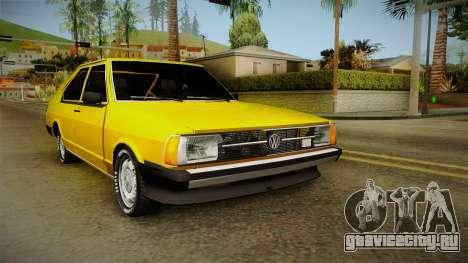 Volkswagen Passat 1981 для GTA San Andreas вид сзади слева