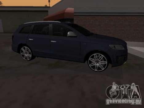 Audi Q7 Armenian для GTA San Andreas вид сзади слева