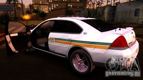 2008 Chevrolet Impala LTZ County Sheriff для GTA San Andreas вид сзади