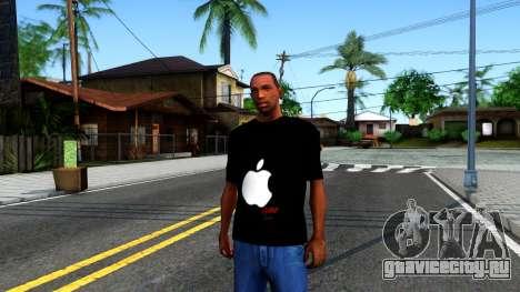 Apple T-shirt для GTA San Andreas