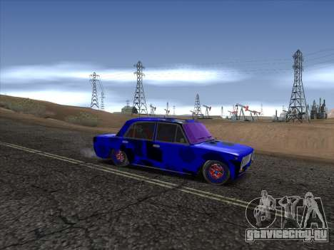 ВАЗ 2101 БК для GTA San Andreas вид сзади