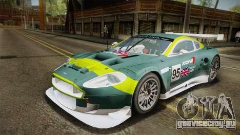 Aston Martin Racing DBR9 2005 v2.0.1 YCH Dirt для GTA San Andreas вид сверху