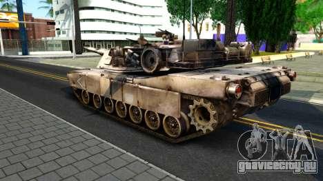 M1A1 Abrams COD4MW Remastered для GTA San Andreas вид сзади