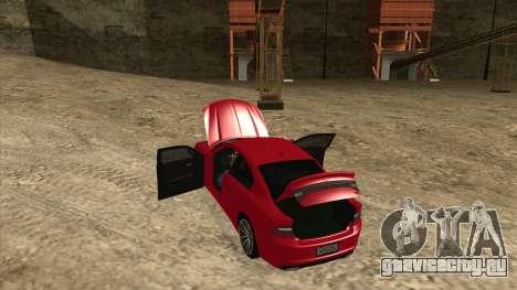 Dodge Charger R/T 2015 для GTA San Andreas вид изнутри