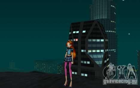 Bloom Rock Outfit from Winx Club Rockstar для GTA San Andreas второй скриншот