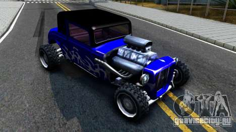 Duke Blue Hotknife Race Car для GTA San Andreas вид слева