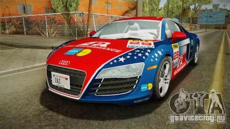 Audi R8 Coupe 4.2 FSI quattro US-Spec v1.0.0 v2 для GTA San Andreas