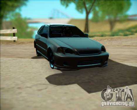 Honda Civic Hatchback для GTA San Andreas вид слева