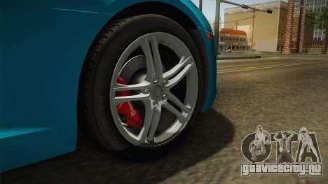 Audi R8 Coupe 4.2 FSI quattro US-Spec v1.0.0 v2 для GTA San Andreas вид сзади