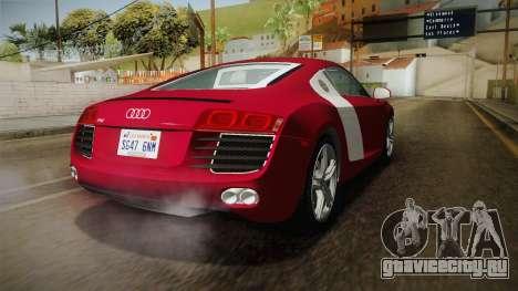 Audi R8 Coupe 4.2 FSI quattro US-Spec v1.0.0 YCH для GTA San Andreas вид сзади слева