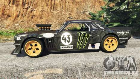 Ford Mustang 1965 Hoonicorn drift [add-on] для GTA 5 вид слева