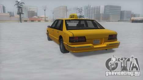 Taxi Winter IVF для GTA San Andreas вид слева